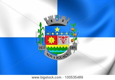 Flag Of Nova Iguacu City, Brazil.