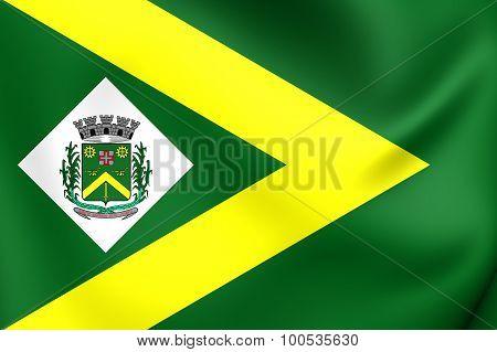 Flag Of Santa Barbara D'oeste City (sao Paulo State), Brazil.