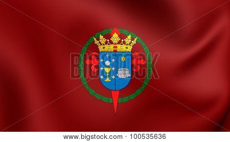 Flag Of Santiago De Compostela City (galicia), Spain.