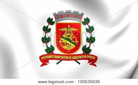 Flag Of Santos City (sao Paulo State), Brazil.