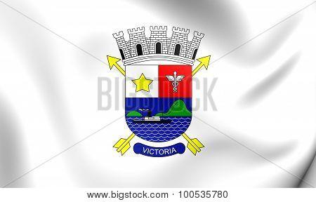 Flag Of Vitoria City (espirito Santo), Brazil.