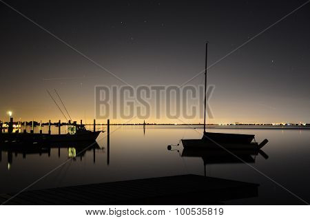 Nightime Tranquility on the Bay at Lonelyville
