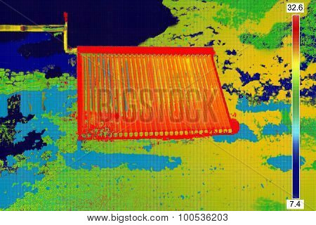Thermovision Image Of Vacuum Solar