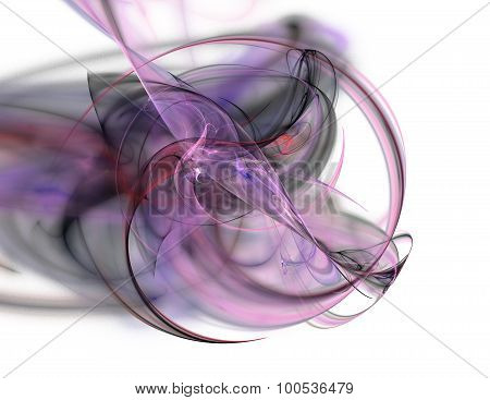 Abstract Fractal Background Pink