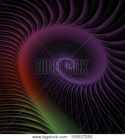 Spiral Abstract Fractal Background