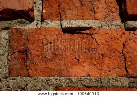 Masonry Old Red Brick Structure