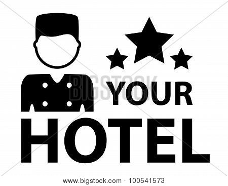 black hotel symbol