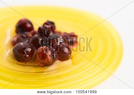 Molecular Fruit Spaghetti With Rowan In Syrup