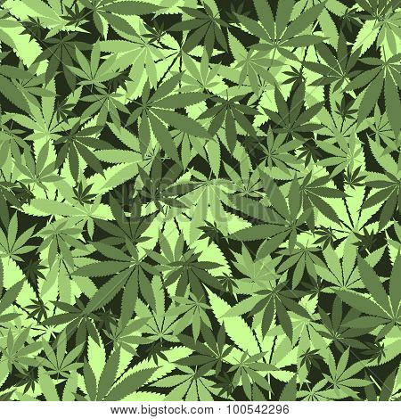 Seamless cannabis pattern
