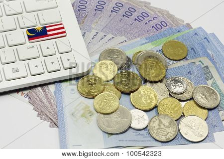 Malaysia Flag, Keyboard And Currency