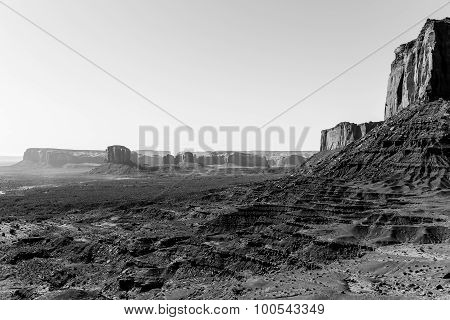 Monument Valley in Monochrome
