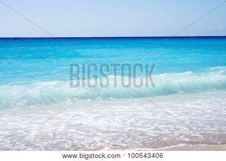 Beautiful Beach, Lefkada Island in Ionian Sea, Greece.