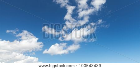 Blue Sky With White Altocumulus Clouds