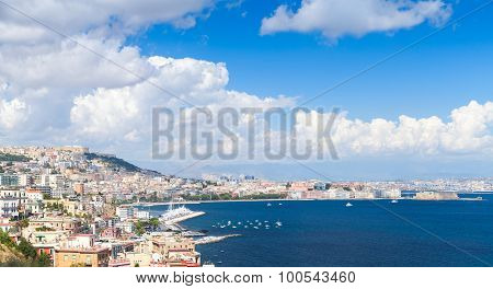 Gulf Of Naples Panoramic Landscape With Cityscape