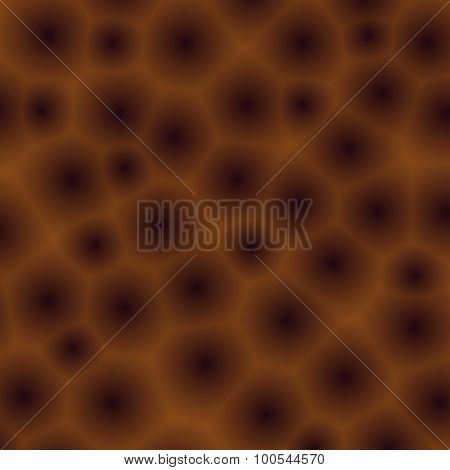 Abstract Background With Brown Bubbles