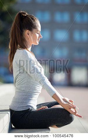 Street Yoga: Half Lotus Pose