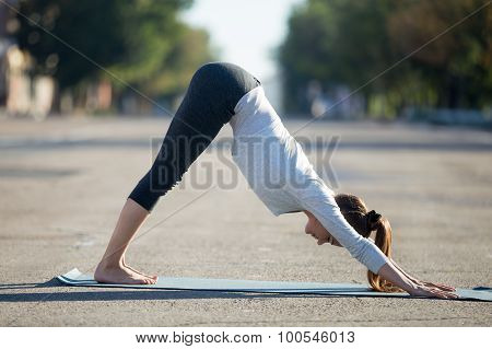 Street Yoga: Downward Facing Dog Pose