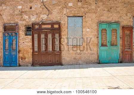 Typical Doors In Jaffa