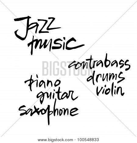 Jazz Music Inscriptions.