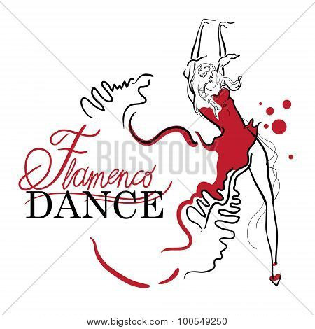 Flamenco Dance Vector Sketches.