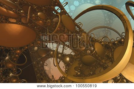 Virtual abstract engine scenery