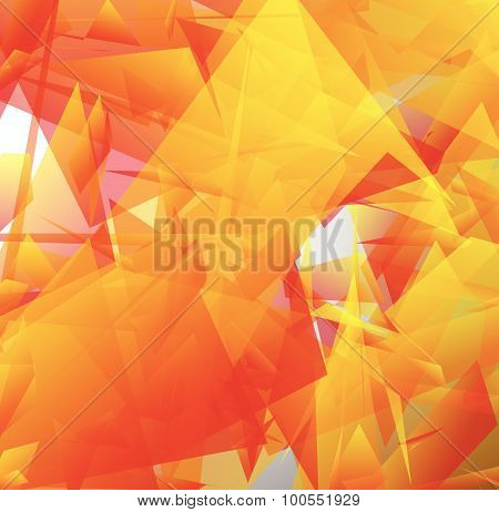 Abstract Digital Art With Edgy Shapes. Vector Illustration.