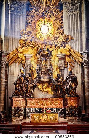 Masterpieces of Bernini; Chair of St. Peter and Gloria