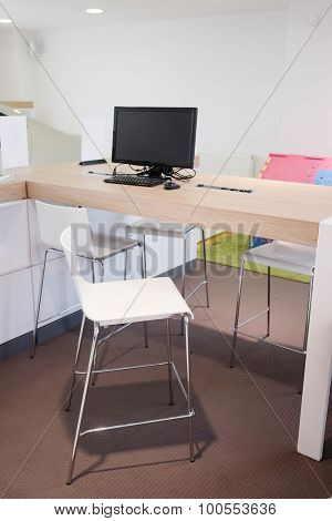 modern office interior. Workplace employee