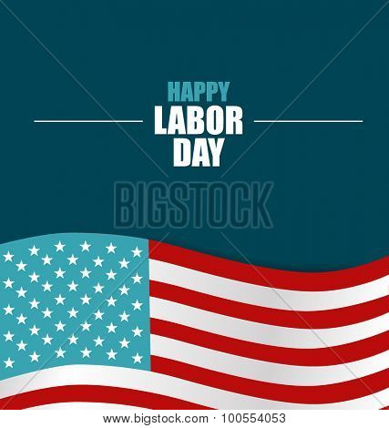 Happy Labor day card design, vector illustration.