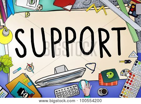 Support Teamwork Advice Assistance Togetherness Concept
