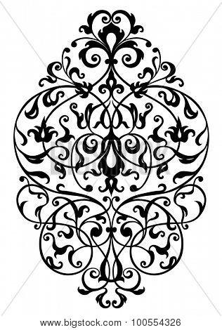 foliage design, line art illustration