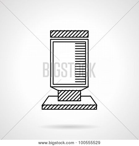 Citylight flat line vector icon