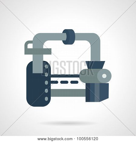Gas transportation system flat vector icon