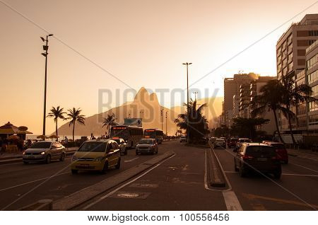 Sunset in Ipanema