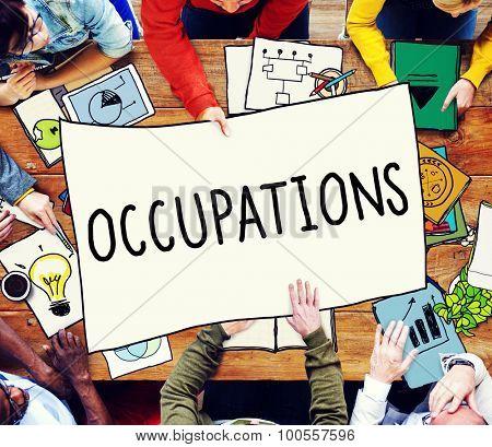 Occupation Job Career Employment Hiring Recruiting Concept