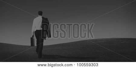 Businessman Solitude Leadership Loneliness Aspiration Concept