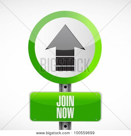 Join Now Road Sign Concept Illustration