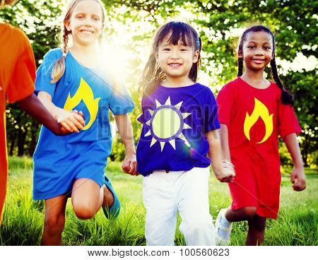 Friends Friendship Childhood Happiness Unity Concept
