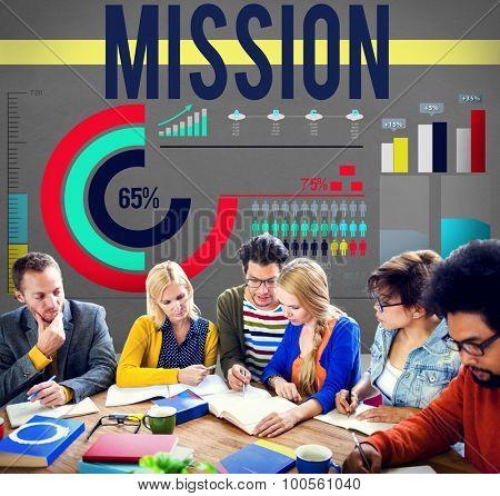 Mission Target Goal Inspiration Aim Concept