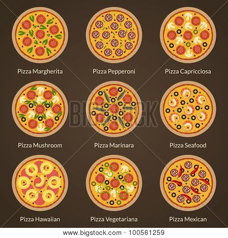 Different type of pizza
