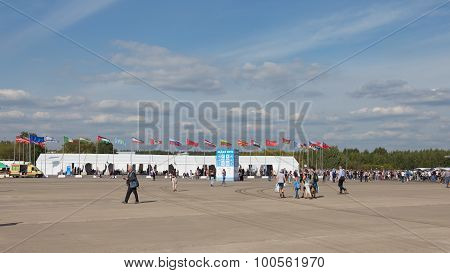 Flags At The Max Air Show 2015