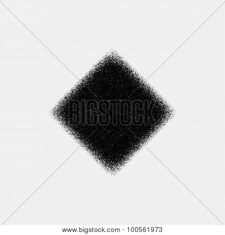 Black Abstract Rhombic Badge