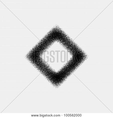 Abstract Rhombic Badge