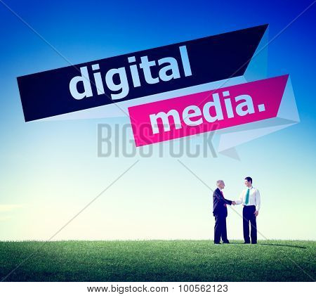 Digital Media Content Share Technology Concept