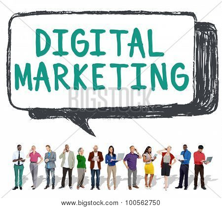 Digital Marketing Commercial Internet Online Concept