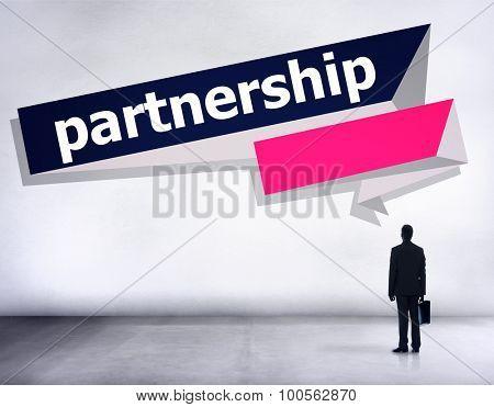 Partnership Teamwork Team Building Organization Concept