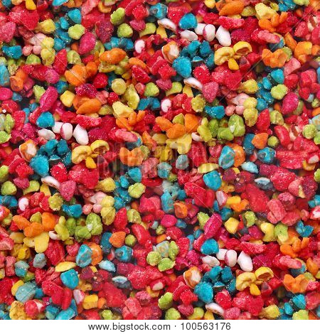 Seamless texture of color candies