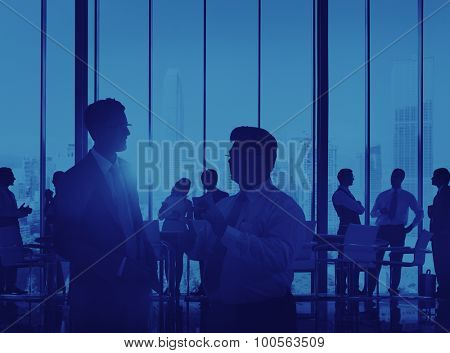 Silhouette Business Corporate Connection Meeting Concept