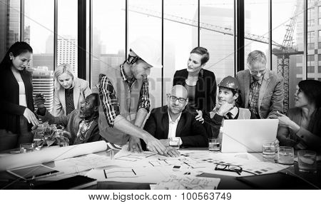 Architect Engineer Meeting People Brainstorming Concept