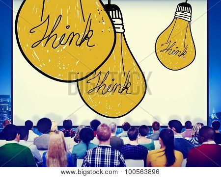 Ideas Inspiration Think Creative Bulb Concept